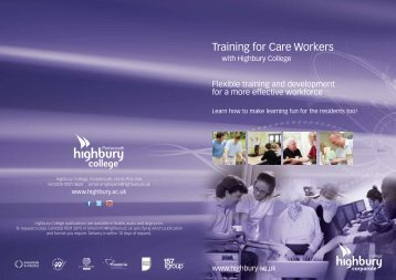 Training for Care Workers - Highbury College