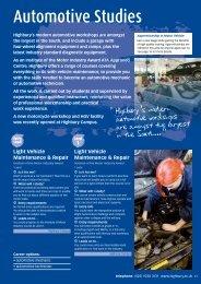 Automotive Studies - Highbury College