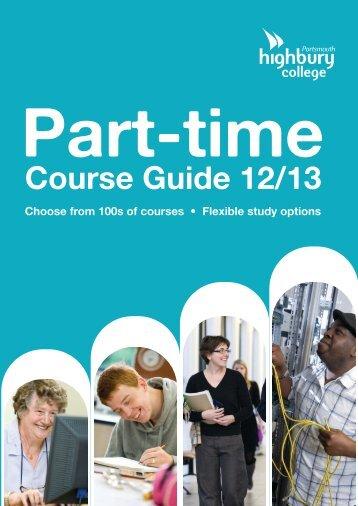 part-time prospectus - Highbury College