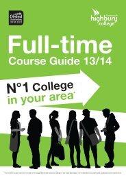 Full-time Prospectus - Highbury College