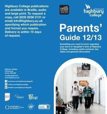 Parents Guide - Highbury College