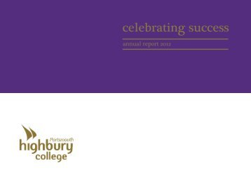Annual Report 2012 - Highbury College