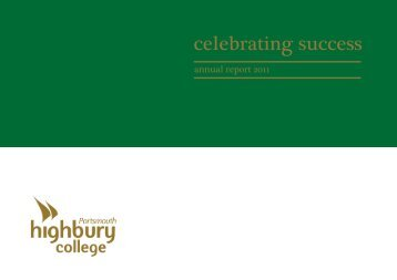 Annual Report 2011 - Highbury College