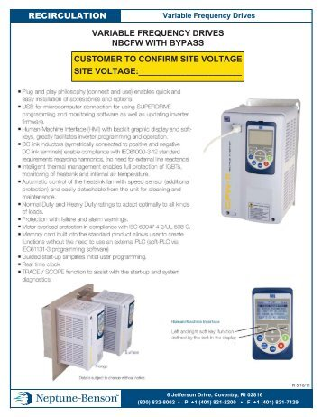 Variable Frequency Drive Specifications Technical Data