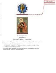 Intermediate Grades - Diocese of Joliet