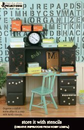 store it with stencils - Hobby Lobby