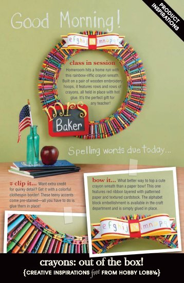 crayons: out of the box! - Hobby Lobby