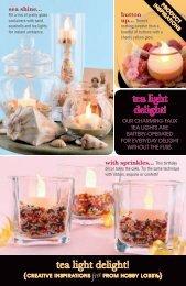 tea light delight! - Hobby Lobby