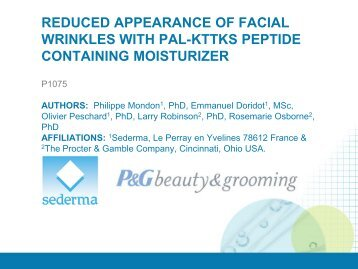 reduced appearance of facial wrinkles with pal-kttks peptide