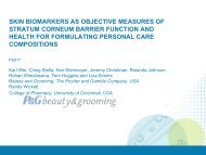 Skin Biomarkers as objective measures of stratum corneum barrier