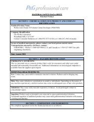 MATERIAL SAFETY DATA SHEET Finished Product ... - Wella