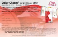 Color Charm® Swatchbook Offer - Wella