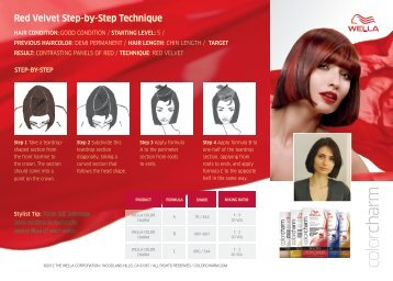 Red Velvet Step-by-Step Technique - Wella
