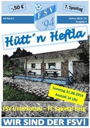 Hütt´n Heftla 2014/2015 Ausgabe 4