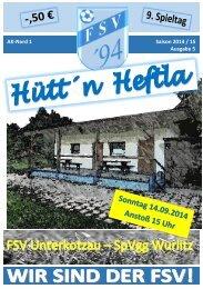 Hütt´n Heftla 2014/2015 Ausgabe 5