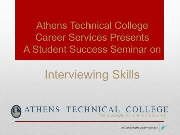 Interview Skills - Athens Technical College