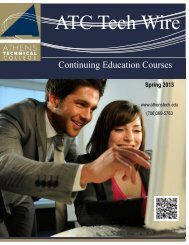 Catalog - Athens Technical College