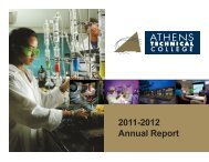 Annual Report For 2011-2012 - Athens Technical College