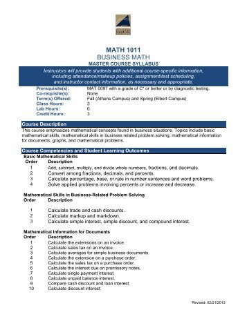 WORKSHEETS BUSINESS MATH