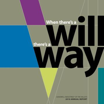 2010 Annual Report - Goodwill Industries of the Valleys