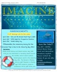 Newsletter - April 23-27, 4th Qtr - Imagine Schools