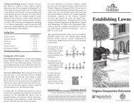 Establishing Lawns - Virginia Cooperative Extension - Virginia Tech