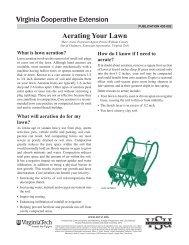 Aerating Your Lawn - Virginia Cooperative Extension - Virginia Tech