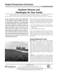 Soybean Choices and Challenges for Your Family - Virginia ...