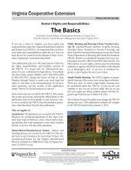 The Basics - Virginia Cooperative Extension - Virginia Tech