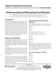 Understanding and Managing Food Allergies - Virginia Cooperative ...