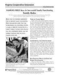 Family Roles - Virginia Cooperative Extension - Virginia Tech
