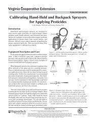 Calibrating Hand-Held and Backpack Sprayers for Applying Pesticides