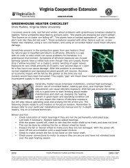 greenhouse heater checklist - Virginia Cooperative Extension ...