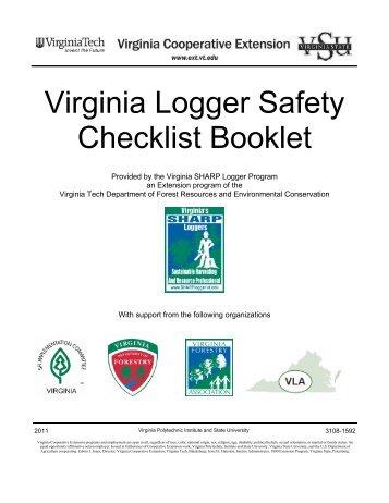 Virginia Logger Safety Checklist Booklet - Virginia Cooperative ...