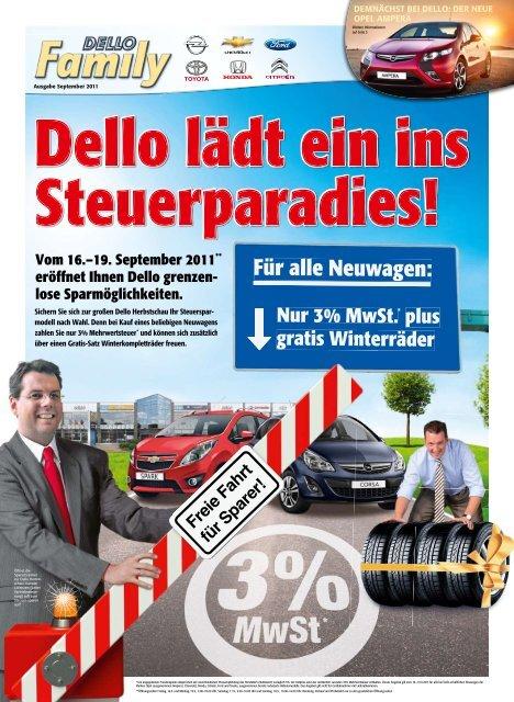 Vom 16.–19. September 2011** eröffnet Ihnen Dello grenzen