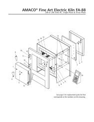 FA-88 Kiln Instructions Manual with parts list and wiring ... - Amaco