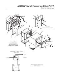 67-EFC Kiln Manual Instructions with parts list and wiring ... - Amaco