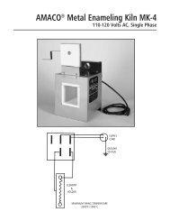 AMACO® Metal Enameling Kiln MK-4 110-120 Volts AC, Single Phase