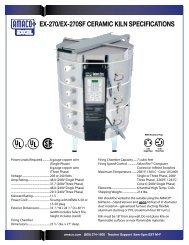 EX-270/EX-270SF CERAMIC KILN SPECIFICATIONS - Amaco