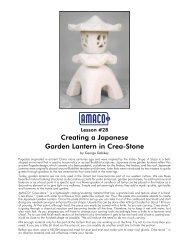 Creating a Japanese Garden Lantern in Crea-Stone - Amaco