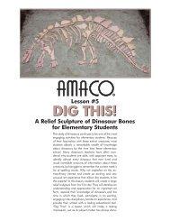 A Relief Sculpture of Dinosaur Bones - Amaco