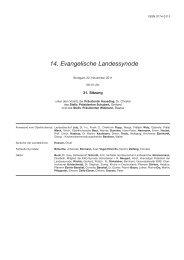14. Evangelische Landessynode - Evangelische Landeskirche in ...