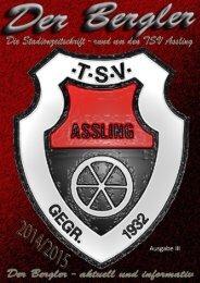 TSV Assling - Bergler Ausgabe III 2014/2015