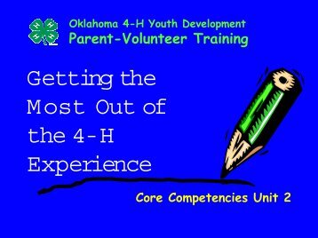 Power Point Presentation - Oklahoma 4-H