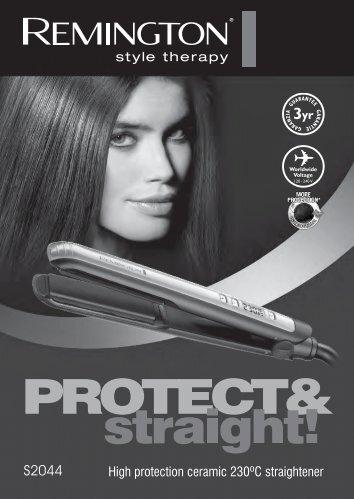 High protection ceramic 230ºC straightener - Remington UK