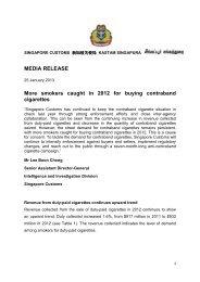 media release - Singapore Customs