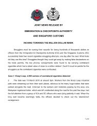 joint news release by immigration & checkpoints authority