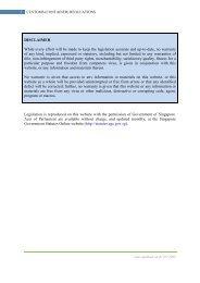 (Container) Regulations - Singapore Customs