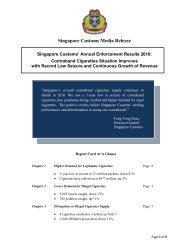 Singapore Customs Media Release