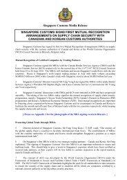 Singapore Customs Media Release SINGAPORE CUSTOMS SIGNS ...